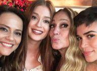 Marina Ruy Barbosa e Susana Vieira curtem festa de fim de ano da Globo