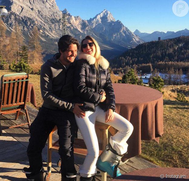 Fiorella Mattheis e Alexandre Pato estão curtindo as férias em Saint-Moritz, na Suíça