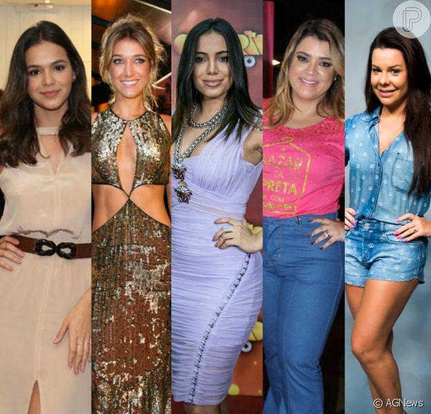 Bruna Marquezine, Fernanda Souza, Preta Gil, Gabriela Pugliesi e Anitta se destacaram no Snapchat em 2015
