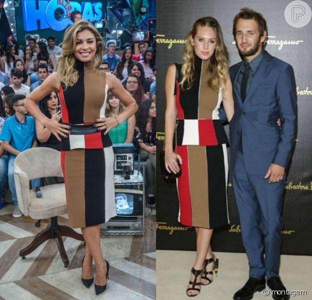 Grazi Massafera foi ao 'Altas Horas' com mesmo look que a modelo Dylan Penn usou durante a Semana de Moda de Milão 2015