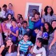 Kaká e Carol Celico se encontraram durante distribuição de presentes na Fundação Francisca Franco, em São Paulo, nesta quarta-feira, 23 de dezembro de 2015. 'Não existe maneira melhor de começar o dia', legendou a blogueira