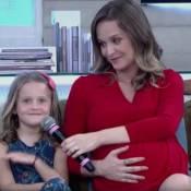 Grávida de 7 meses, Fernanda Rodrigues escolheu o nome do 2º filho por votação