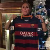 Neymar presenteia Susana Vieira com camisa autografada do Barcelona:'Diva da TV'