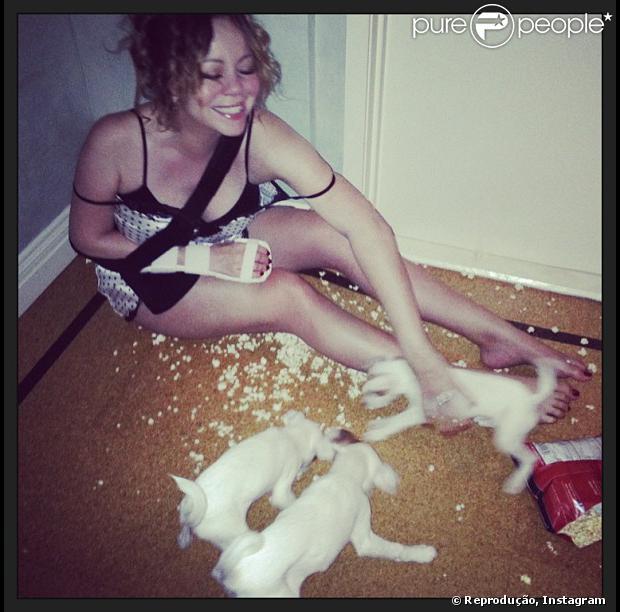 Sexy Mariah Carey Tapete