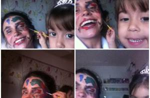 Giovanna Antonelli se diverte ao ser pintada pelas filhas: 'Estou linda'