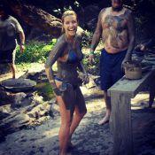 Luiza Possi, do 'The Voice Brasil', posa de biquíni e cheia de lama: 'Dia feliz'