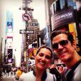 O ator Carlos Machado viajou para NY, onde se casou com a namorada Ivy Rocha