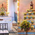 O amarelo reina na decoração do casamento de Ester (Grazi Massafera) Cassiano (Henri Castelli), em 'Flor do Caribe'