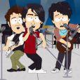 O desenho animado 'South Park', conhecido pelo humor irônico e desbocado, e que trata de diversos temas polêmicos, satirizou a questão do anel de pureza usado pelo irmãos Jonas no episódio 'O Anel'