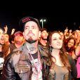Tico Santa Cruz e sua mulher, Luciana, no quarto dia de shows do Rock in Rio 2013