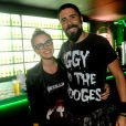 Natallia Rodrigues e seu marido, Tchello, no quarto dia de shows do Rock in Rio 2013