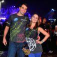 Bárbara Borges e o namorado no quarto dia de shows do Rock in Rio 2013