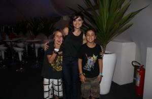 Vanessa Giácomo, Cláudia Ohana e famosos curtem último dia de Rock in Rio