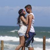 Anitta namora ator Victor Sparapane na praia em gravação de novo clipe, 'Zen'