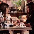 Se dizendo fragilizada por causa do câncer de mama, Silvia (Carol Castro) pede a Patrícia (Maria Casadevall) que termine com Michel (Caio Castro), em 'Amor à Vida'