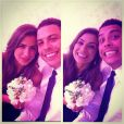 Paula Morais pega buquê em casamento e brinca com Ronaldo
