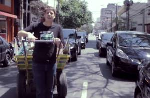 Fábio Porchat vira carroceiro por um dia em São Paulo: 'Meu dia de catador'