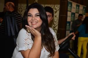 Fabiana Karla evitou vestido de noiva na vida real: 'Achei que ficaria feia'