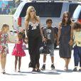 Heidi Klum é mãe de Leni, fruto de seu relacionamento com o italiano Flavio Briatore, e Henry, Johan e Lou, filhos da top com o cantor Seal