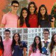 Fátima Bernardes e William Bonner são pais dos trigêmeos Vinícius, Laura e Beatriz, de 15 anos