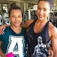 Gracyanne Barbosa já levou sua mãe para um de seus treinos na academia