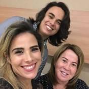 Zilu recebe visita dos filhos Wanessa e Igor Camargo no hospital: 'Felicidade'