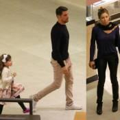 Cauã Reymond passeia com a filha, Sofia, em mesmo shopping que Grazi Massafera