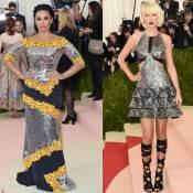 Demi Lovato e Taylor Swift usam vestidos metalizados no Met Gala 2016. Looks!