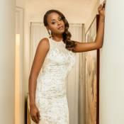 Roberta Rodrigues se veste de noiva pela 1ª vez e se emociona: 'Conto de fadas'