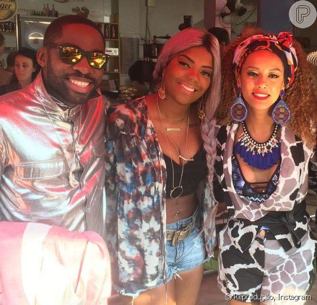 Ludmilla grava 'Mister Brau' com Tais Araujo e Lázaro Ramos: 'Turma que eu amo', nesta terça-feira, 3 de maio de 2016