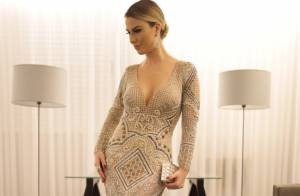 Fernanda Keulla usa vestido e joias avaliados em R$ 300 mil em jantar de gala