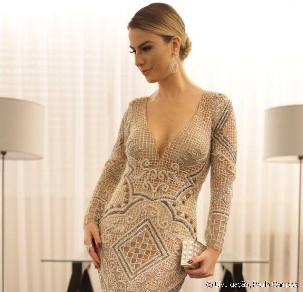 Fernanda Keulla aposta em look de R$ 300 mil em jantar de gala beneficente, nesta terça-feira, 3 de maio de 2016