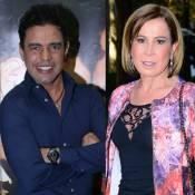 Zezé Di Camargo acompanhou a ex-mulher, Zilu, durante troca da prótese no queixo