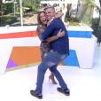 Susana Vieira se diverte com Otaviano Costa na apresentação do 'Vídeo Show', mas direção quer menos gritos