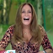 Susana Vieira revê clipe no 'Vídeo Show' e brinca: 'Gostava de pegar cameraman'