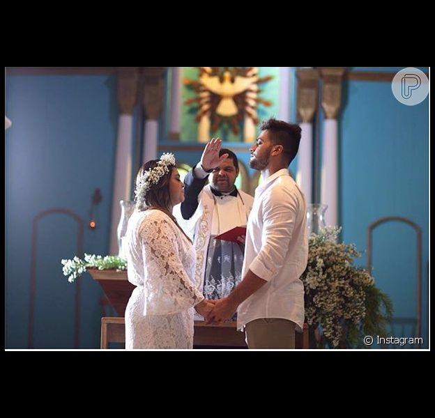 Preta Gil e o marido, Rodrigo Godoy, renovaram os votos de casamento em Trancoso, Bahia, nesta quinta-feira, dia 12 de maio de 2016