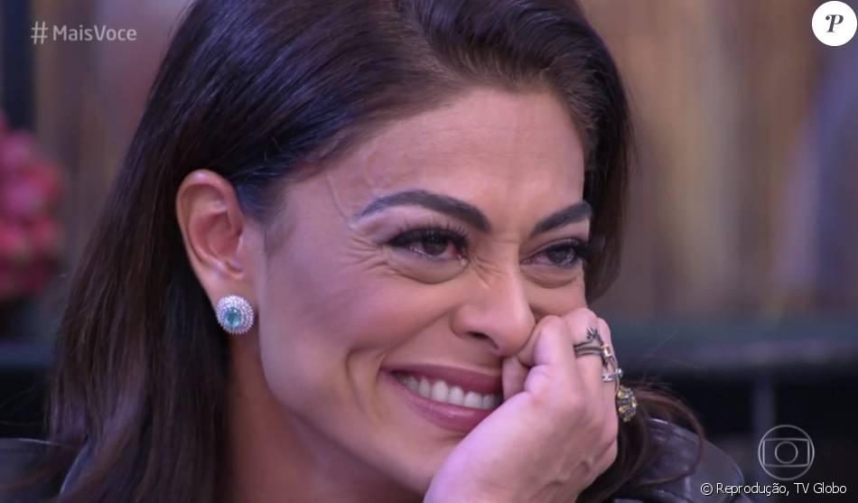 Juliana Paes chorou com declaração de amor do marido, Carlos Eduardo Baptista, no 'Mais Você' desta quinta-feira, 19 de maio de 2016