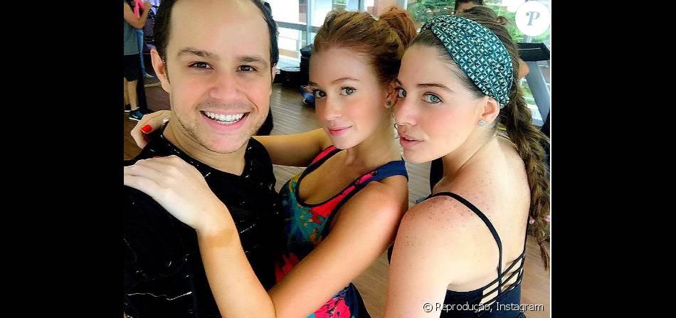 Marina Ruy Barbosa e Luma Costa estream em aula de dança e ganham elogios de professor, em 21 de maio de 2016