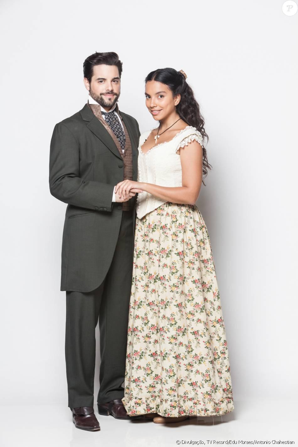 Miguel (Pedro Carvalho) e Juliana (Gabriela Moreyra) são os protagonistas da novela 'Escrava Mãe', que estreia nesta terça-feira, 31 de maio de 2016