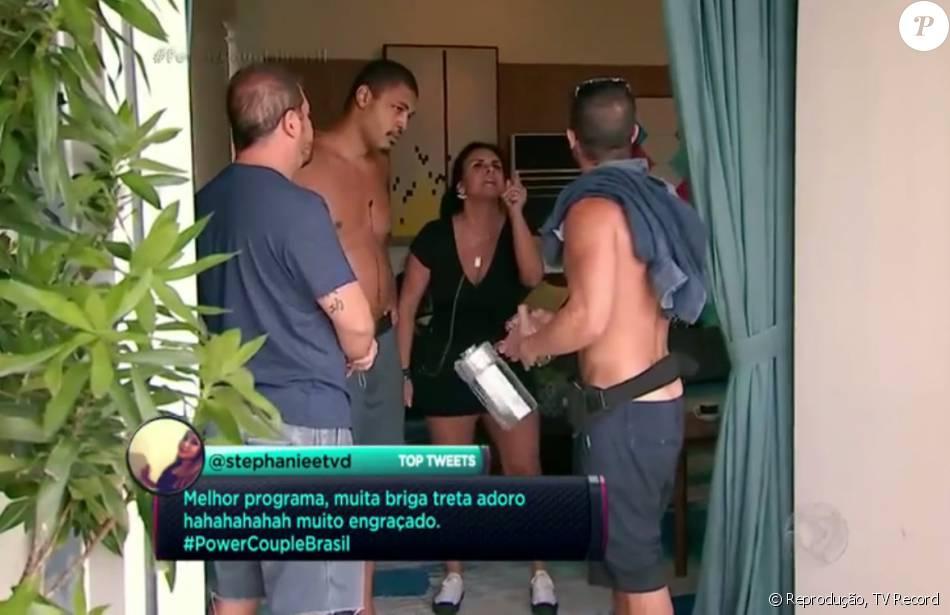 Gretchen bateu boca com Jorge Sousa durante episódio do 'Power Couple' exibido na noite desta terça-feira, 24 de maio de 2016: 'Moleque!'