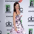 A atriz Juliette Lewis apostou em um modelo Monique Lhuillier e sapatos Stuart Weitzman para comparecer ao Hollywood Film Awards, em Los Angeles, na última segunda, 21 de outubro de 2013