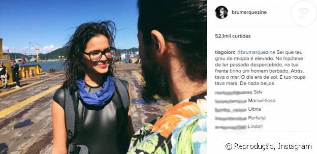 Bruna Marquezine ganha elogio de Tiago Iorc em foto publicada nesta quarta-feira, dia 25 de maio de 2016