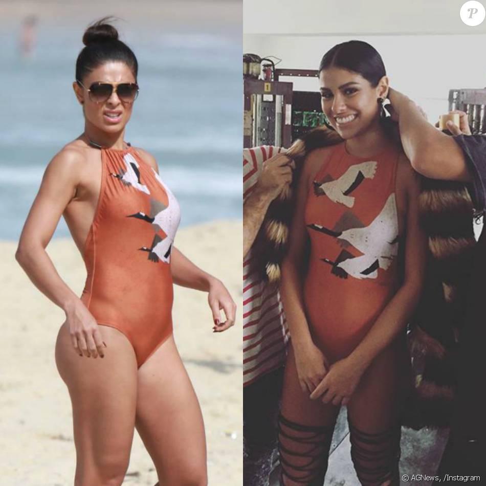 Munik e Juliana Paes usaram o mesmo maiô nesta terça-feira, dia 25 de maio de 2016