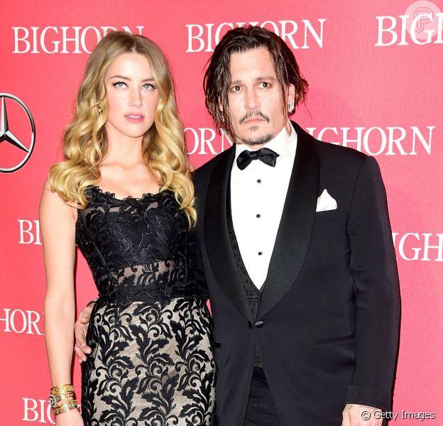 Johnny Depp e Amber Heard se separaram: a atriz teria pedido divórcio, afirma o site 'TMZ' nesta terça-feira, dia 25 de maio de 2016