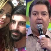 Faustão vai bancar e exibir na TV o casamento de Viviane Araújo e Radamés