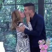 Cissa Guimarães e André Marques 'se casam' no 'Mais Você': 'Me dá um beijinho'
