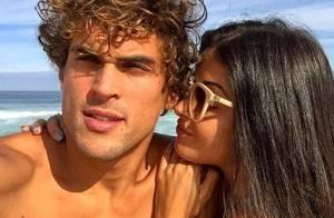 Aline Riscado ganha declaração de amor do namorado, Felipe Roque: 'Minha rainha'