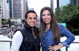 Thammy Miranda aparece mais barbudo e com a namorada na Parada do Orgulho LGBT