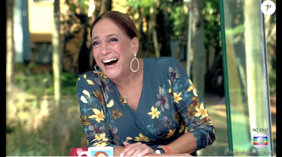"""Susana Vieira se diverte depois de revelar que galã gostaria de beijar no 'Vídeo Show' desta quinta-feira, 02 de junho de 2016: """"Adoraria beijar o Cauã Reymond"""""""