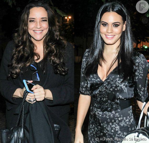 Ana Carolina e Letícia Lima vão juntas a festa, mas não posam juntas. Elas estiveram no aniversário de Flora Gil nesta quinta-feira, 2 de junho de 2016, no Rio